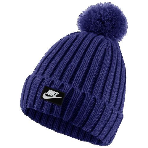 (取寄)ナイキ メンズ ニット帽 カフド ポム ビーニー 帽子 Nike Men's Cuffed Pom Beanie Deep Royal Blue White