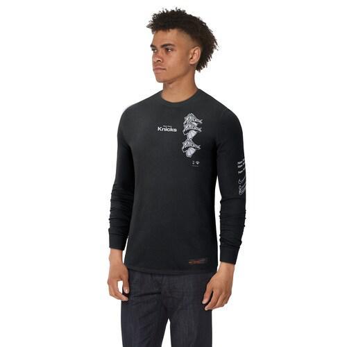(取寄)ナイキ メンズ NBA コートサイド ディスラプション ロングスリーブ Tシャツ ニュー ヨーク ニックス Nike Men's NBA Courtside Disruption L/S T-Shirt ニュー ヨーク ニックス Black White