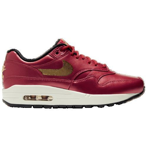 取寄 ナイキ レディース エア マックス 1 Nike Women's Air Max 1 University Red Metallic Gold BlackdexorBCW