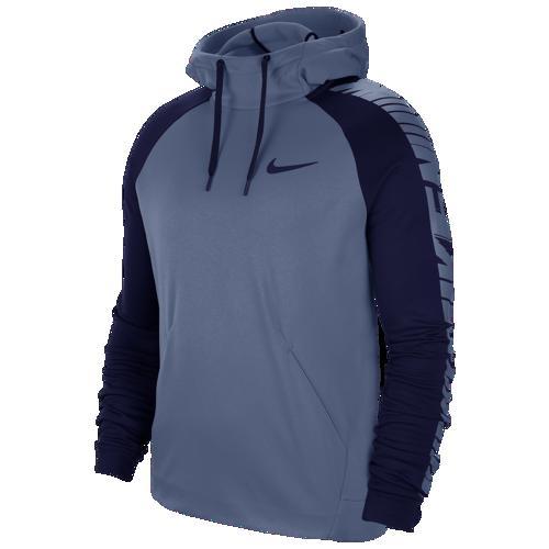【エントリーでポイント10倍】(取寄)ナイキ メンズ パーカー サーマ フリース スリーブ グラフィック フーディ Nike Men's Therma Fleece Sleeve Graphic Hoodie Ocean Fog Blue Void