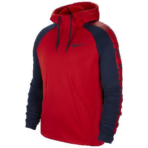 (取寄)ナイキ メンズ パーカー サーマ フリース スリーブ グラフィック フーディ Nike Men's Therma Fleece Sleeve Graphic Hoodie University Red Obsidian