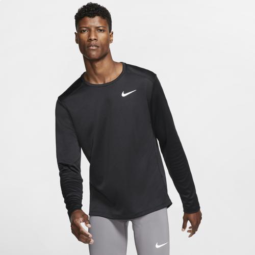 (取寄)ナイキ メンズ ペイサー クルー ロングスリーブ トップ Nike Men's Pacer Crew L/S Top Black Black Reflective Silver