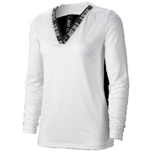 (取寄)ナイキ レディース グラム ダンク エラスティカ ロングスリーブ トップ Nike Women's Glam Dunk Elastika Long-Sleeve Top White Metallic Gold