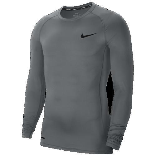(取寄)ナイキ メンズ プロ コンプレッション ロング スリーブ トップ Nike Men's Pro Compression Long Sleeve Top Smoke Grey Black