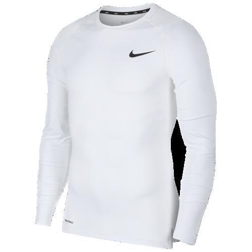 (取寄)ナイキ メンズ プロ コンプレッション ロング スリーブ トップ Nike Men's Pro Compression Long Sleeve Top White Black