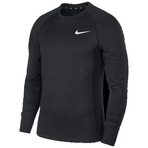 (取寄)ナイキ メンズ プロ フィッティド ロング スリーブ トップ Nike Men's Pro Fitted Long Sleeve Top Black White