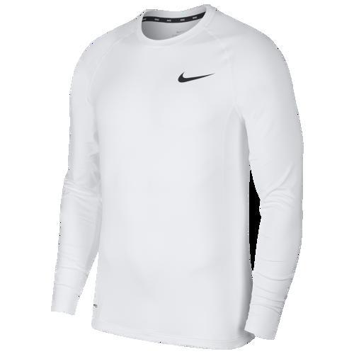 (取寄)ナイキ メンズ プロ フィッティド ロング スリーブ トップ Nike Men's Pro Fitted Long Sleeve Top White Black