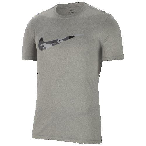 (取寄)ナイキ メンズ レジェンド カモ スウッシュ Tシャツ Nike Men's Legend Camo Swoosh T-Shirt Dark Grey Heather