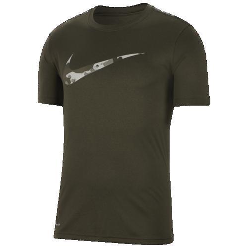 (取寄)ナイキ メンズ レジェンド カモ スウッシュ Tシャツ Nike Men's Legend Camo Swoosh T-Shirt Black Cargo Khaki