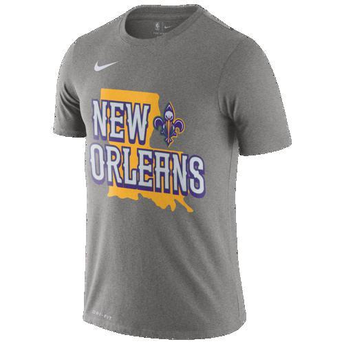(取寄)ナイキ メンズ NBA シティ エディション FNW ロゴ Tシャツ ニュー オーランド ペリカンズ Nike Men's NBA City Edition FNW Logo T-Shirt ニュー オーランド ペリカンズ Dark Grey Heather