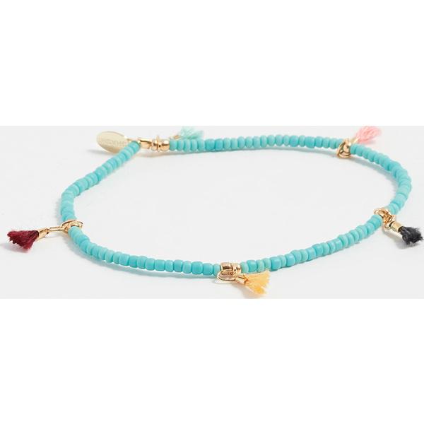 (取寄)Shashi Lilu Seed Bracelet シャシ リル シード ブレスレット Turquoise