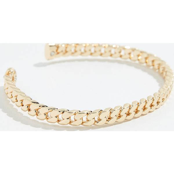 (取寄)シャシ チェイン カフ ブレスレット Shashi Chain Cuff Bracelet Gold