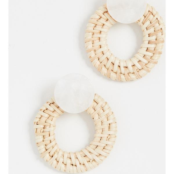 (取寄)シャシ バルバドス ピアス Shashi Barbados Earrings White
