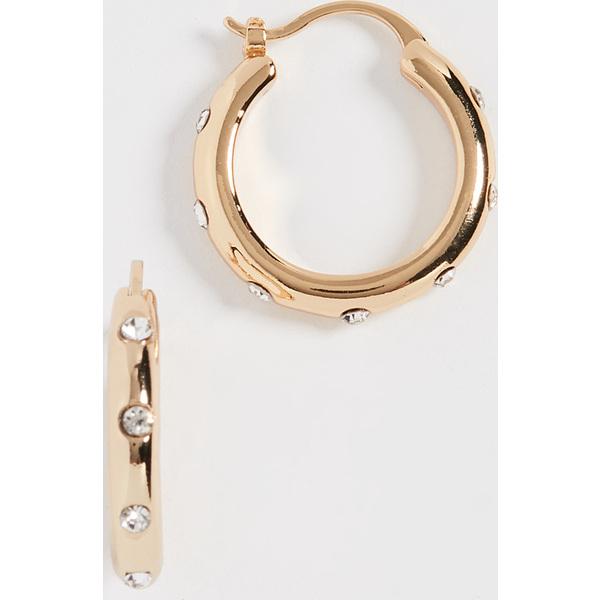 (取寄)シャシ ローレン フープ ピアス Shashi Lauren Hoop Earrings Gold