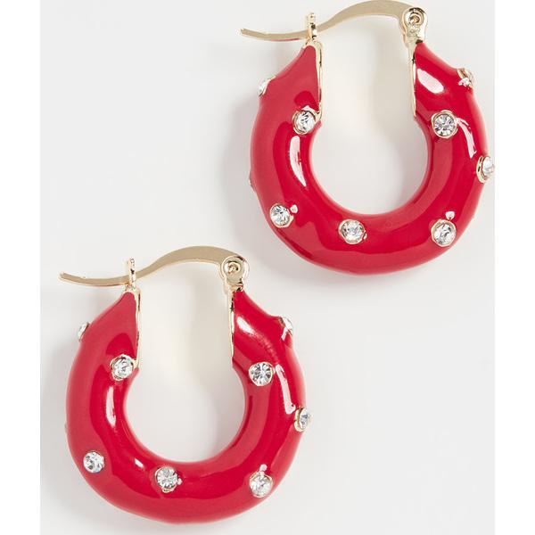 (取寄)シャシ ダニー ピアス Shashi Dani Earrings Red Crystal
