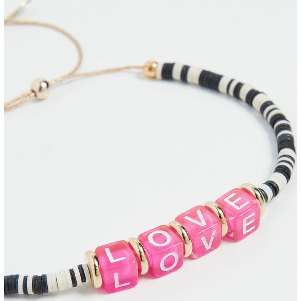(取寄)シャシ オール ユー ユー ニード ブレスレット Shashi All You Need Bracelet Black White Pink