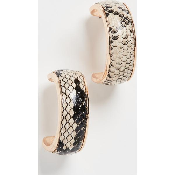 (取寄)シャシ コブラ ピアス Shashi Cobra Earrings NaturalSnakeskin