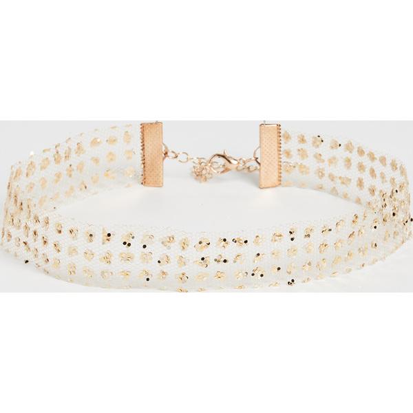 (取寄)シャシ グリッター スキン ネックレス Shashi Glitter Skin Necklace Gold