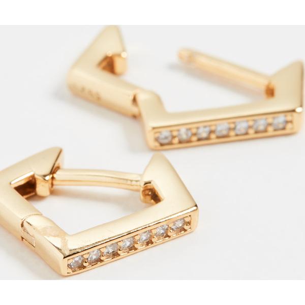 (取寄)シャシ リベル フープ ピアス Shashi Rebel Hoop Earrings Gold