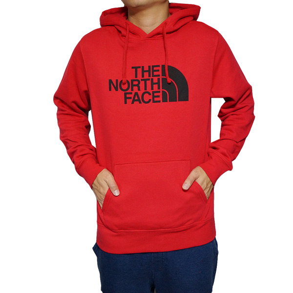 ノースフェイス メンズ パーカー ハーフドーム プルオーバー レッド The North Face Men's Half Dome Hoodie Pullover Tnf Red/Tnf Black