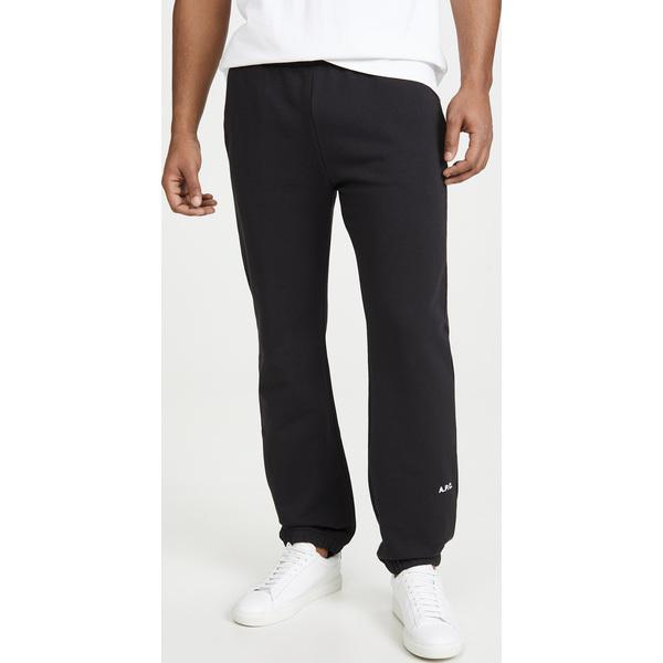 【エントリーでポイント10倍】(取寄)アーペーセー x ジョウンド ロゴ スウェットパンツ A.P.C. x JJJJound Logo Sweatpants Noir