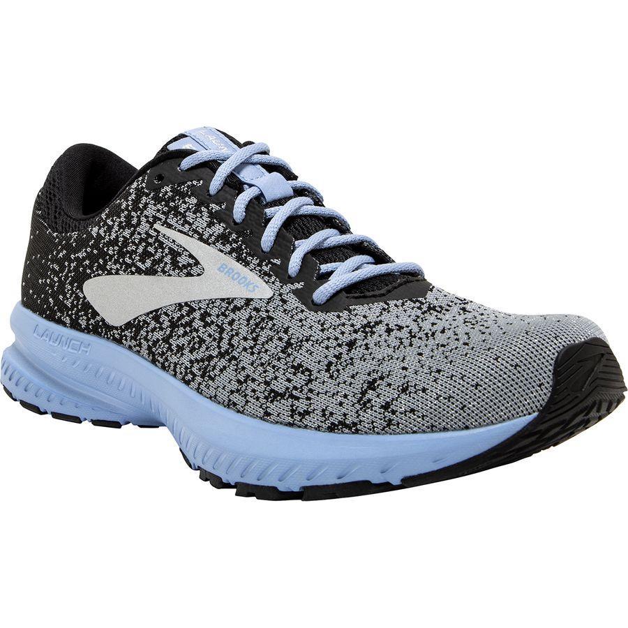 【クーポンで最大2000円OFF】(取寄)ブルックス レディース ローンチ 6 ランニングシューズ Brooks Women Launch 6 Running Shoe Black/Primer/Bel Air Blue
