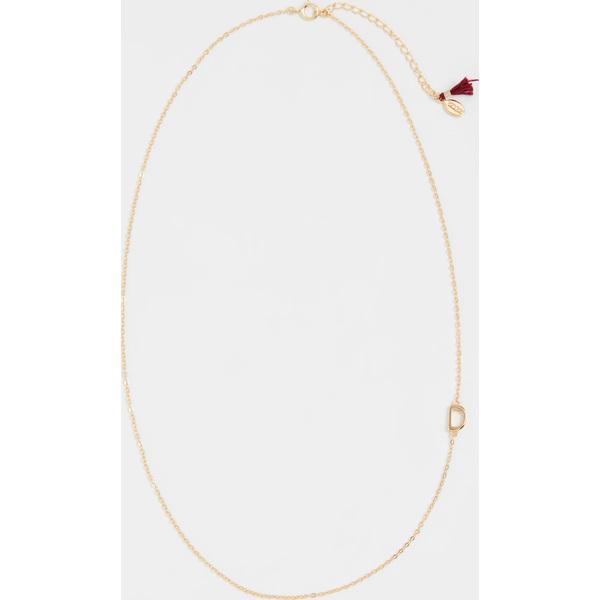 (取寄)シャシ レター イン チェイン ネックレス Shashi Letter in Chain Necklace D