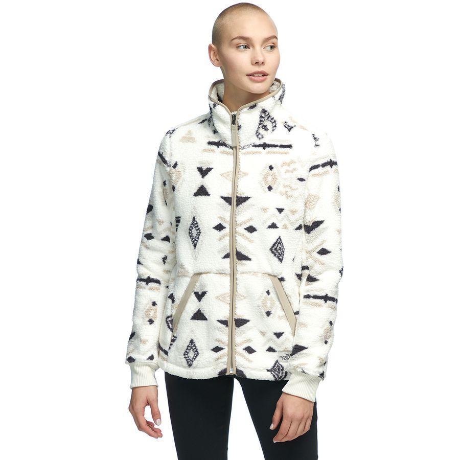 (取寄)ノースフェイス レディース Campshire フルジップ フリース ジャケット The North Face Women Campshire Full-Zip Fleece Jacket Vintage White California Geo Print