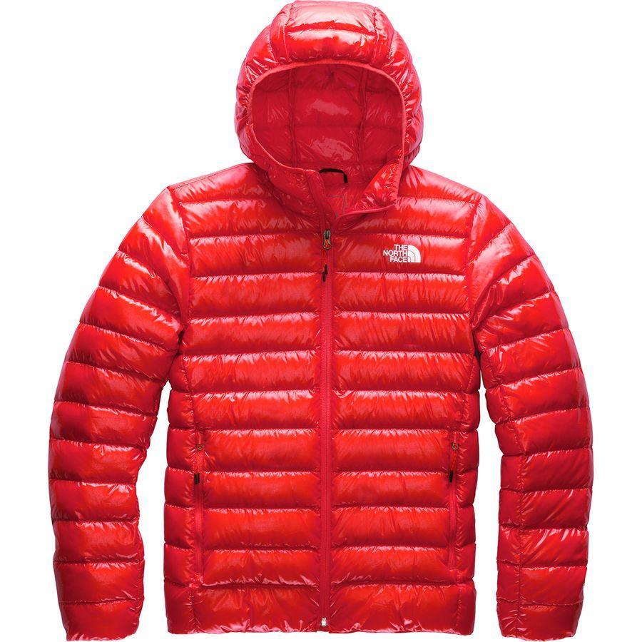 (取寄)ノースフェイス メンズ シエラ ピーク ダウン フーデッド ジャケット The North Face Men's Sierra Peak Down Hooded Jacket Fiery Red