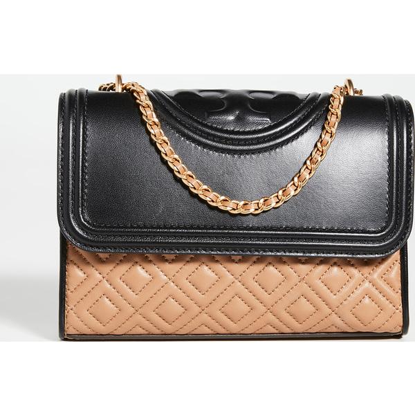 (取寄)トリーバーチ フレミング カラーブロック スモール コンバーチブル ショルダー バッグ Tory Burch Fleming Colorblock Small Convertible Shoulder Bag NewIvory Black Cardamom