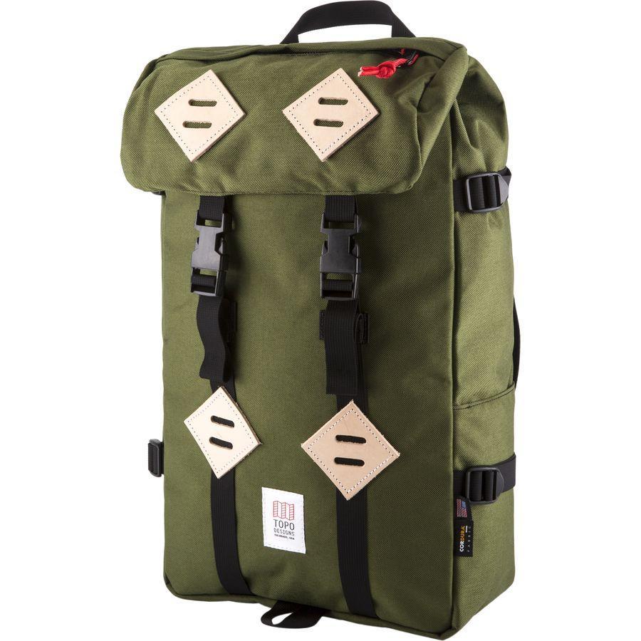【クーポンで最大2000円OFF】(取寄)トポデザイン ユニセックス クレッターサック 25L バックパック Topo Designs Men's Klettersack 25L Backpack Olive