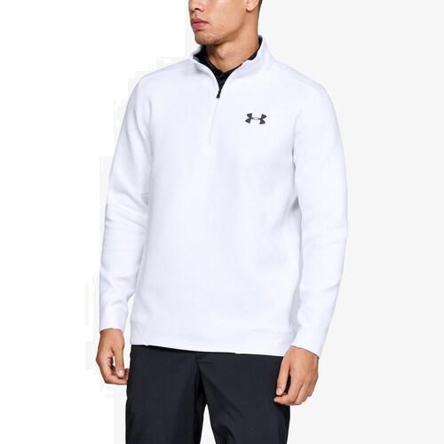 【クーポンで最大2000円OFF】(取寄)アンダーアーマー メンズ ストーム ゴルフ 1/4 ジップ Underarmour Men's Storm Golf 1/4 Zip White White Pitch Gray