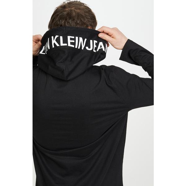 【エントリーでポイント10倍】(取寄)カルバンクライン ジーンズ カルバン ロゴ プルオーバー Calvin Klein Jeans Calvin Logo Pullover Black