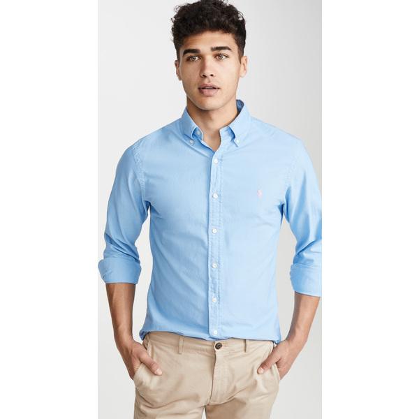 (取寄)ポロ ラルフローレン ロングスリーブ ガーメント ダイ オックスフォード シャツ Polo Ralph Lauren Longsleeve Garment Dyed Oxford Shirt Blue
