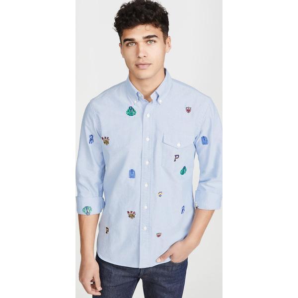 【エントリーでポイント10倍】(取寄)ポロ ラルフローレン エンブロイダー オックスフォード シャツ Polo Ralph Lauren Embroidered Oxford Shirt Multi