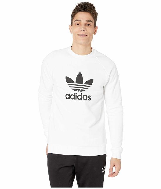 (取寄)アディダス オリジナルス メンズ トレフォイル クルー  トレーナー adidas originals Men's Trefoil Crew Sweatshirt White