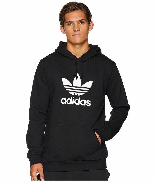 (取寄)アディダス オリジナルス メンズ トレフォイル  パーカー adidas originals Men's Trefoil Hoodie Black