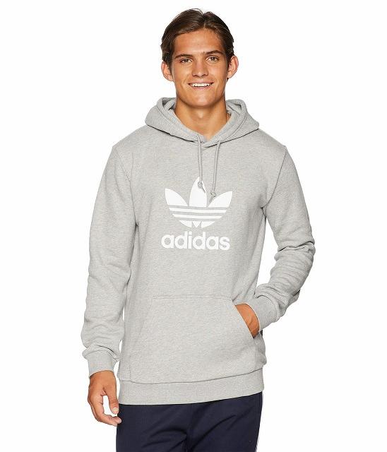 【エントリーでポイント10倍】(取寄)アディダス オリジナルス メンズ トレフォイル  パーカー adidas originals Men's Trefoil Hoodie Medium Grey Heather
