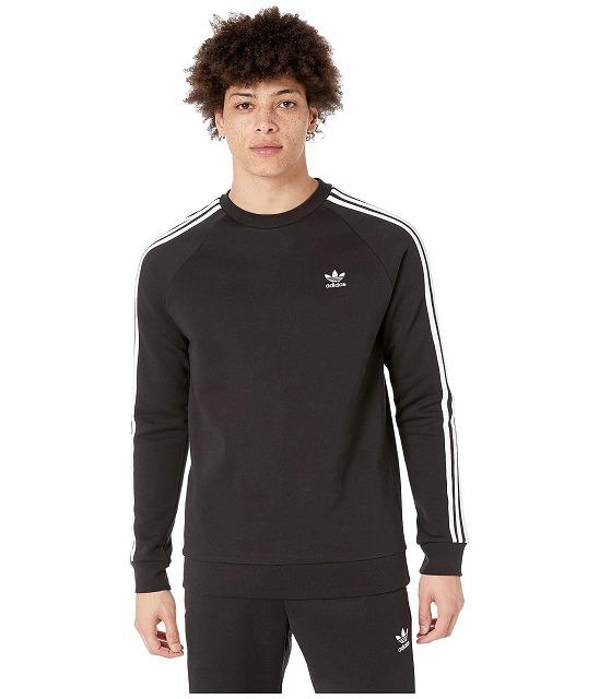 【エントリーでポイント10倍】(取寄)アディダス オリジナルス メンズ 3ーストライプ クルー adidas originals Men's 3-Stripes Crew Black