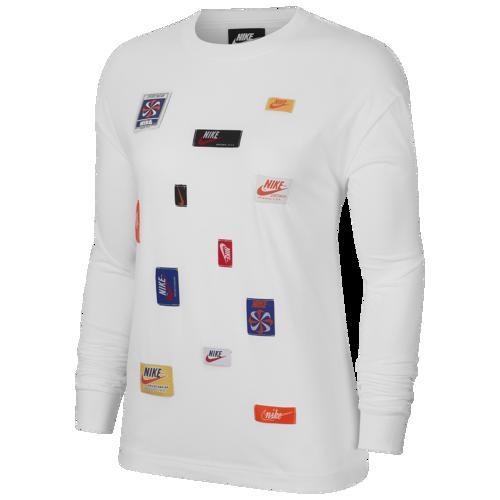 (取寄)ナイキ レディース ロンT 長袖 JDIY ロング スリーブ Tシャツ Nike Women's JDIY Long Sleeve T-Shirt White