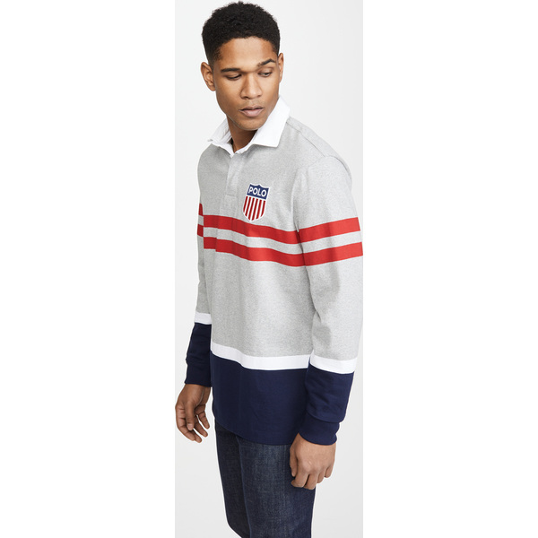 【エントリーでポイント10倍】(取寄)ポロ ラルフローレン ジャージ アクティブ ラグビー シャツ Polo Ralph Lauren Jersey Active Rugby Shirt AndoverHeatherMulti