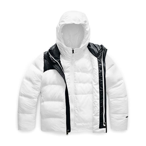 (取寄)ノースフェイス ガールズ ダブル ダウン トリクライメイト ジャケット The North Face Girls' Double Down Triclimate Jacket TNF White
