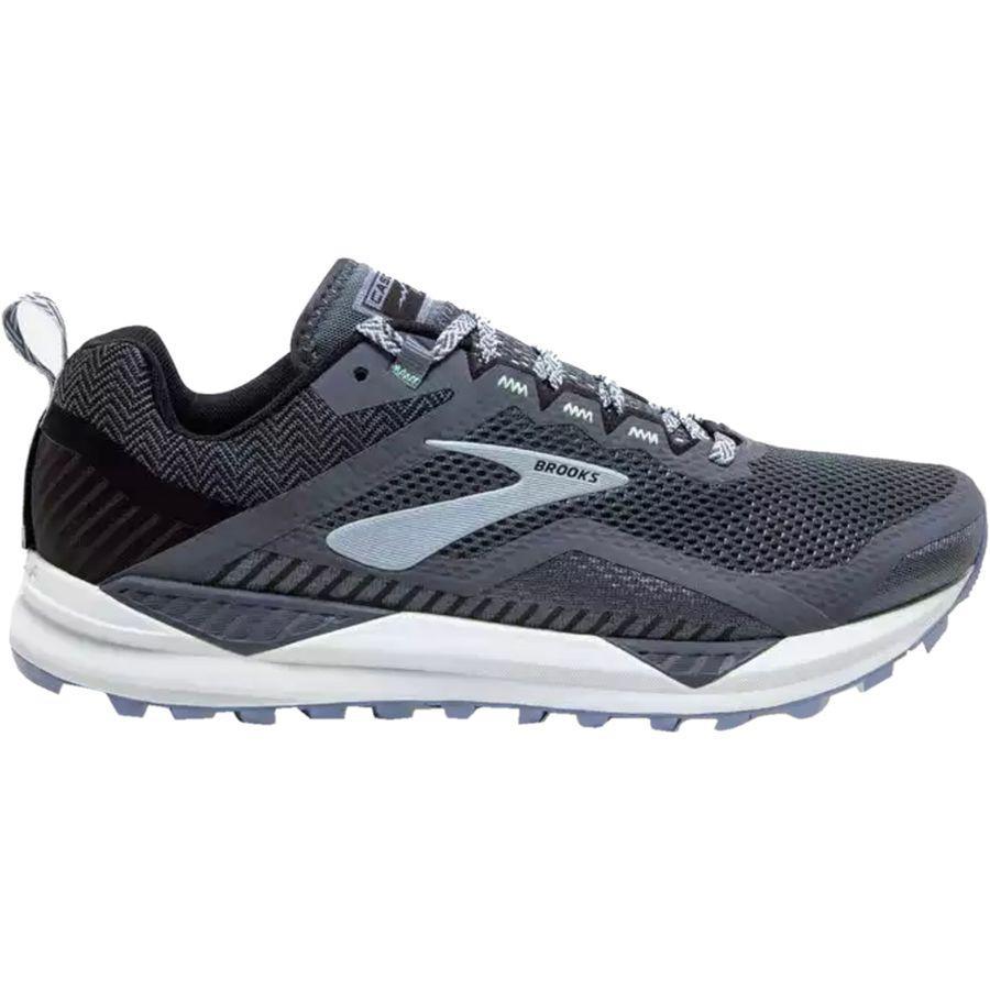 【クーポンで最大2000円OFF】(取寄)ブルックス レディース カスケディア 14トレイル ランニングシューズ Brooks Women Cascadia 14 Trail Running Shoe Grey/Black/Kentucky Blue