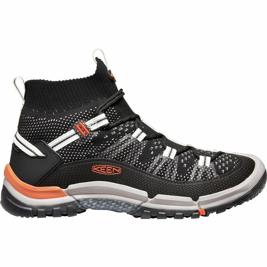 【マラソン ポイント10倍】(取寄)キーン メンズ ターギー エボ ミッド ハイキング ブーツ KEEN Men's Targhee Evo Mid Hiking Boot Black/Flame