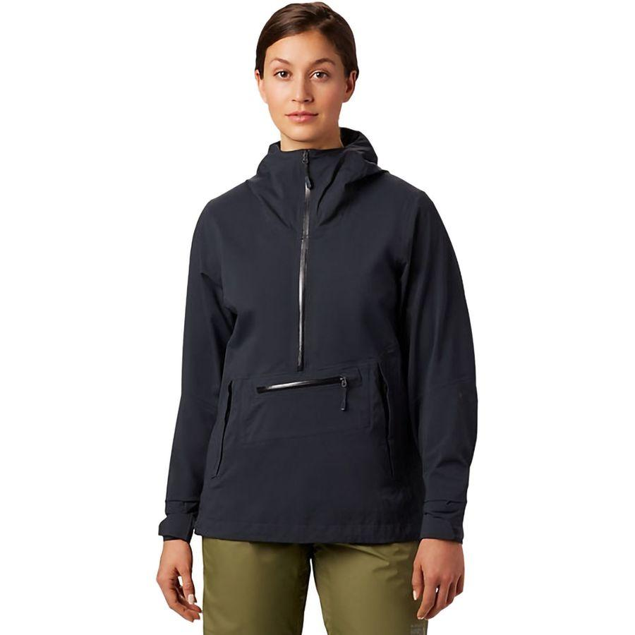 【クーポンで最大2000円OFF】(取寄)マウンテンハードウェア レディース エクスポーザー 2 Gtx パックライト ストレッチ プルオーバー ジャケット Mountain Hardwear Women Exposure 2 GTX Paclite Stretch Pullover Jacket Dark Storm
