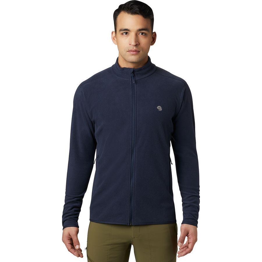 【クーポンで最大2000円OFF】(取寄)マウンテンハードウェア メンズ マクロチル フルジップ フリース ジャケット Mountain Hardwear Men's Macrochill Full-Zip Fleece Jacket Dark Zinc