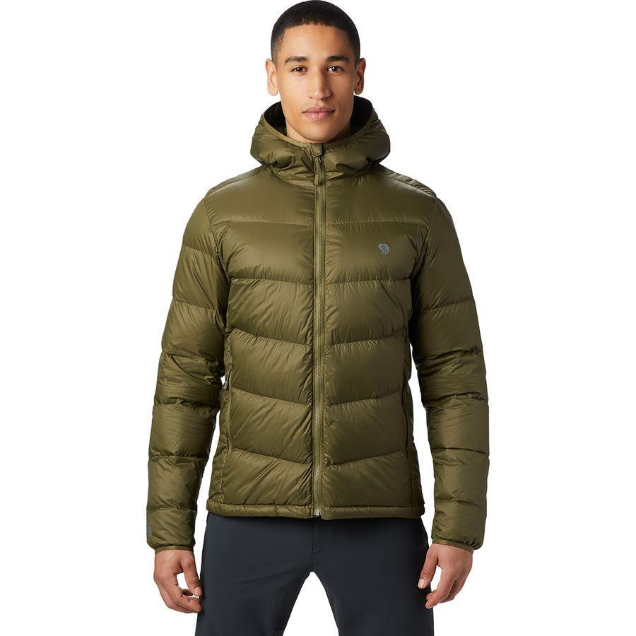 【マラソン ポイント10倍】(取寄)マウンテンハードウェア メンズ マウント イヤック ダウン フーデッド ジャケット Mountain Hardwear Men's Mt. Eyak Down Hooded Jacket Combat Green