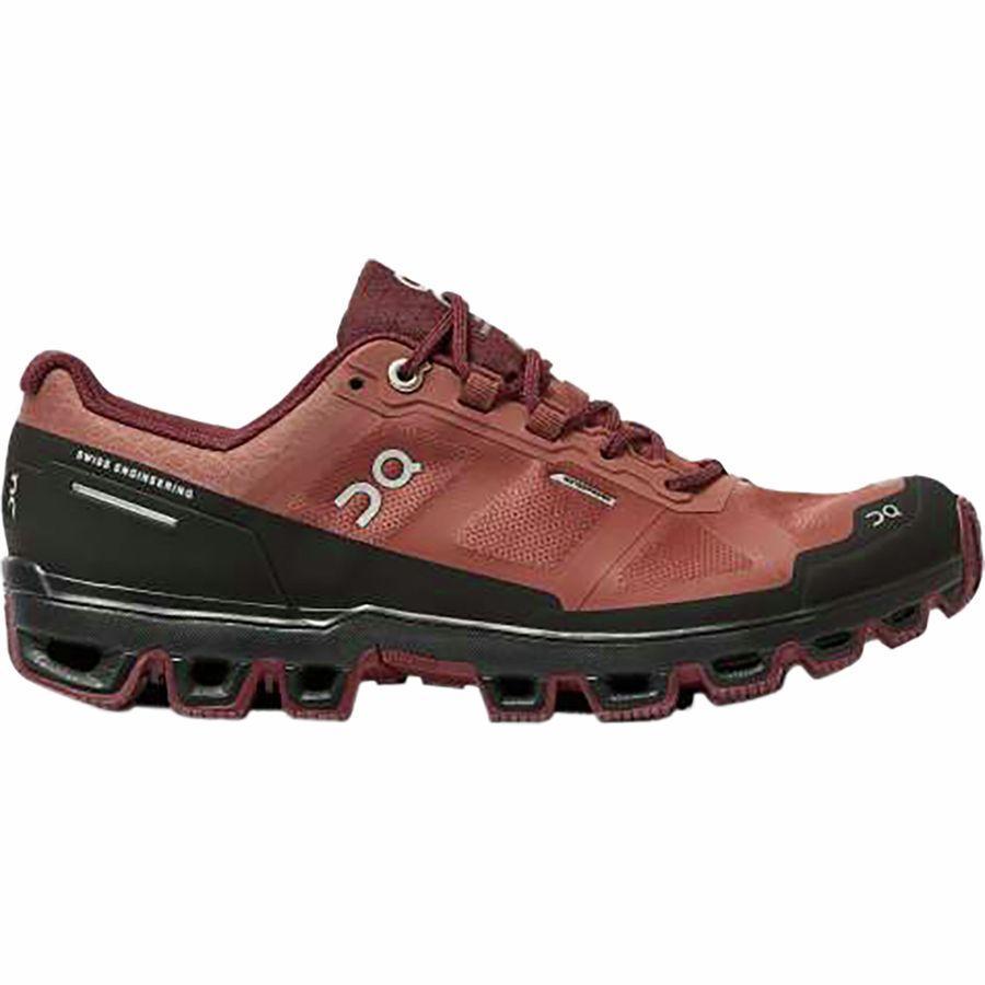 【マラソン ポイント10倍】(取寄)オンランニング レディース クラウドベンチャー トレイル ランニングシューズ ON Running Women Cloudventure Trail Running Shoe Hazel/Mulberry