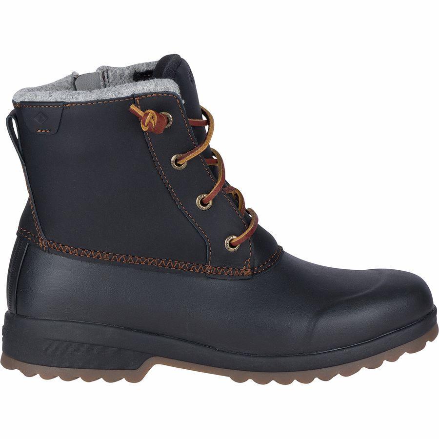 (取寄)スペリートップサイダー レディース マリタイム Repelウィンター ブーツ Sperry Top-Sider Women Maritime Repel Winter Boot Black