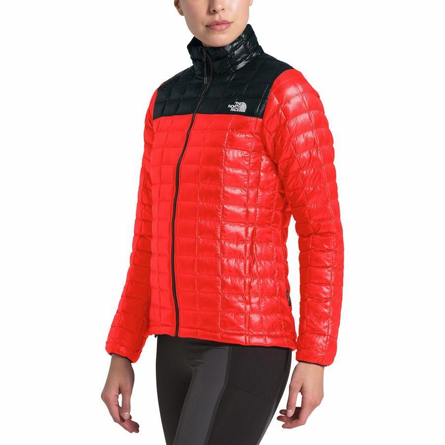 【マラソン ポイント10倍】(取寄)ノースフェイス レディース サーモボール エコ インサレーテッド ジャケット The North Face Women Thermoball Eco Insulated Jacket Fiery Red Matte/TNF Black Matte